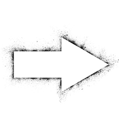 Ink blots arrow vector image vector image