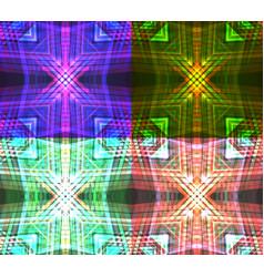 set of neon tribal textures vector image