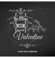 Vintage Valentines Day Card vector image