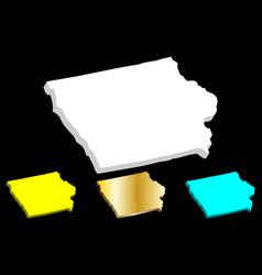 3d map iowa vector