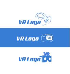 abstract and minimalist vr virtual reality logo vector image