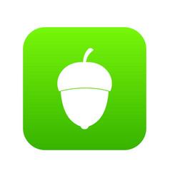 acorn icon digital green vector image