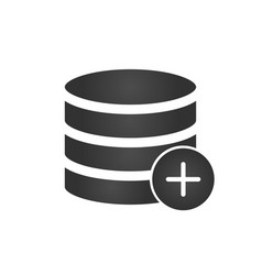 add to database black icon isolated on modern vector image