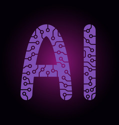 ai letters artificial intelligence easy to use vector image