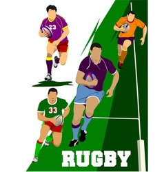 al 0442 rugby set vector image