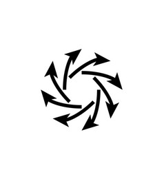 Arrow icon in trendy flat style isolated on grey vector