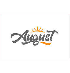 August black hand writing word text typography vector
