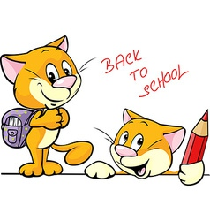 Back to school - cat character with school vector