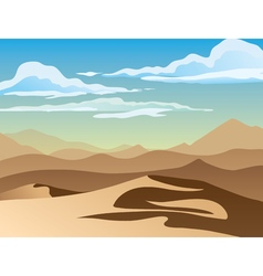 Background of landscape with desert vector