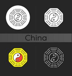bagua dark theme icon vector image