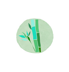 Bamboo logo design vector