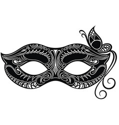 beautiful mask with butterfly vector image