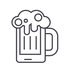 beer line icon sign vector image vector image
