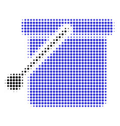bucket halftone icon vector image