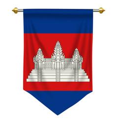 Cambodia pennant vector