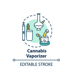 Cannabis vaporizer concept icon vector
