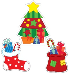 christmas stockers vector image