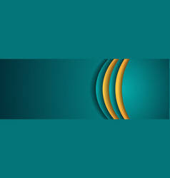 corporate turquoise and orange wavy banner design vector image