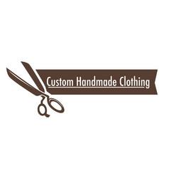 Custom handmade clothing isolated icon scissors vector