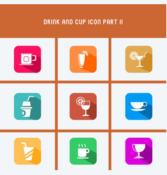 Drink and cup icon part ii vector