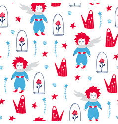 fairytale cute seamless pattern vector image