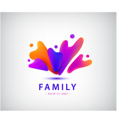 family with kids people group logo vector image