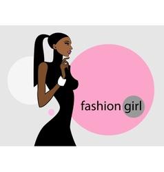 Fashion girl image vector