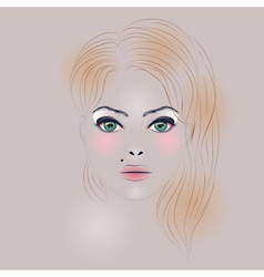 Fashion Girl with Hair2 vector image