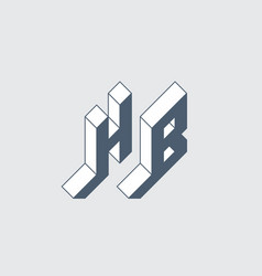 H and b - monogram or logotype hb - 2-letter code vector