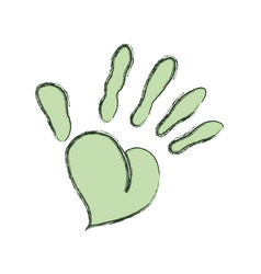Human hand silhouette vector