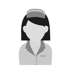 Isolated nurse design vector