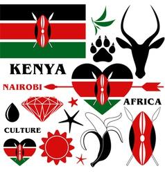 Kenya vector image