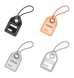 label icon in cartoon style isolated on white vector image