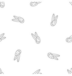 leaves almond pattern seamless vector image