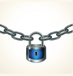 lock chain vector image
