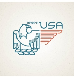 Made in usa symbol with american flag and vector