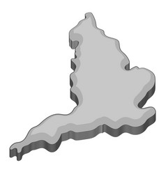 map of united kingdom icon monochrome vector image