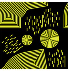 memphis seamless background abstract pattern vector image