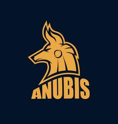 Modern egyptian god anubis logo vector