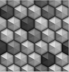 monochrome hexagones seamless background vector image