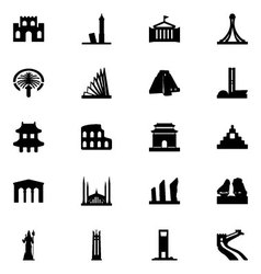 Monuments Icons 4 vector