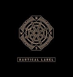 nautical label vector image