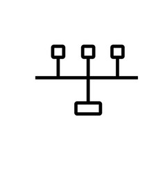 Network ports icon vector