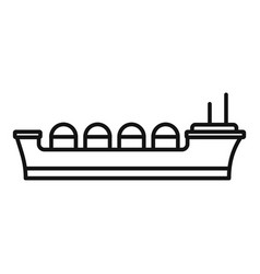 Oil tanker ship icon outline style vector