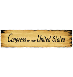 Old parchment congress of the united states vector