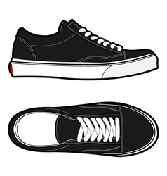 old school shoes vector image