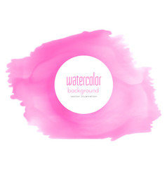 Pink watercolor stain texture background vector