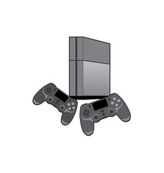 play station 4 game console vector image
