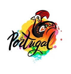 portugal the travel destination logo vector image