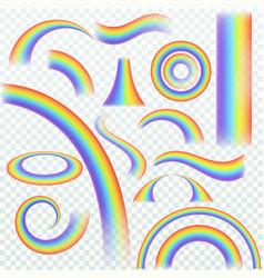 realistic rainbow rainbows arch joyful summer vector image